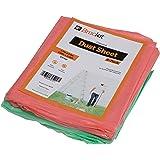 Brackit 6 pack Coloured Dust sheets polythene dust sheets 3.6M X2.7M (12X9FT)