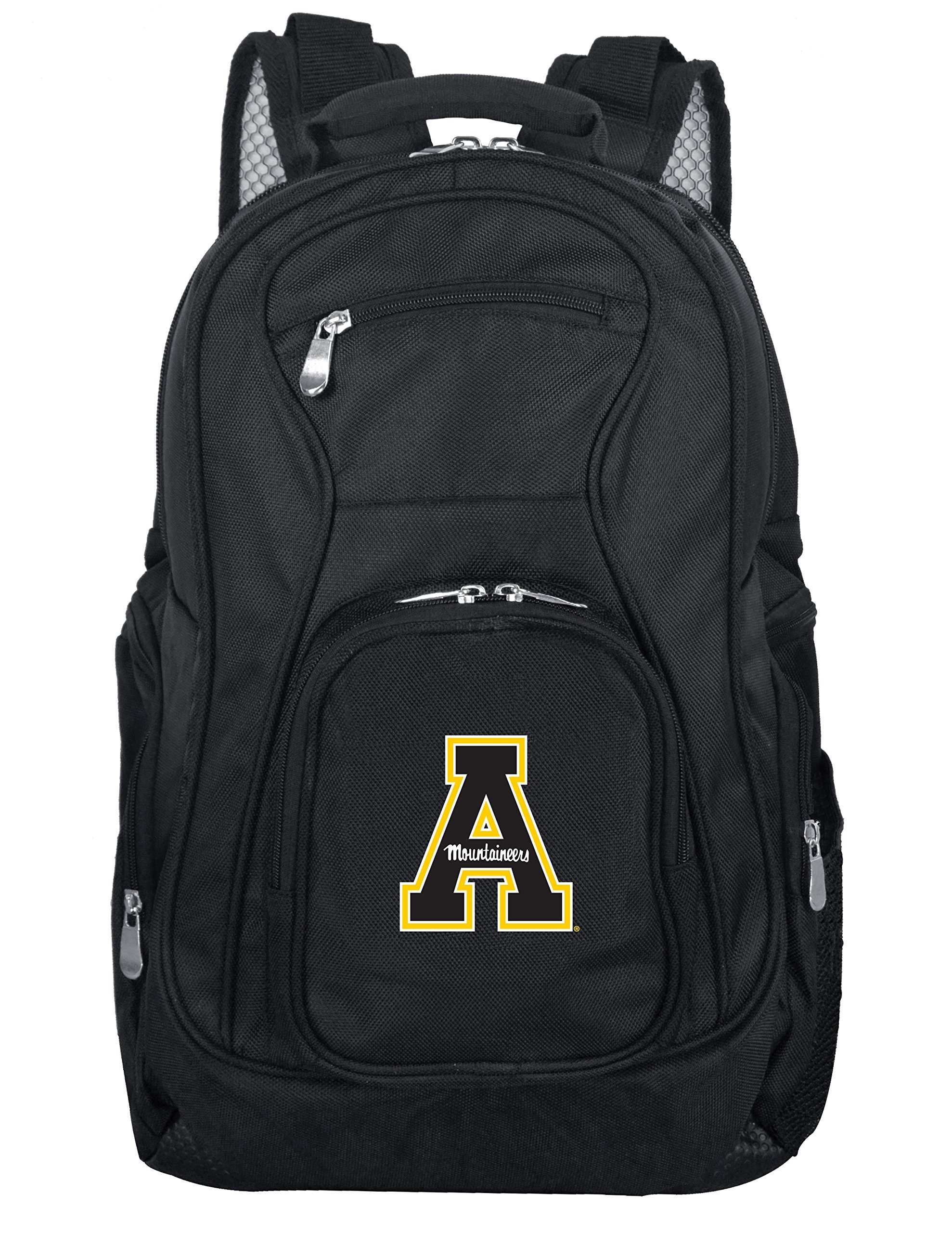 Denco NCAA Appalachian State Mountaineers Voyager Laptop Backpack, 19-inches, Black