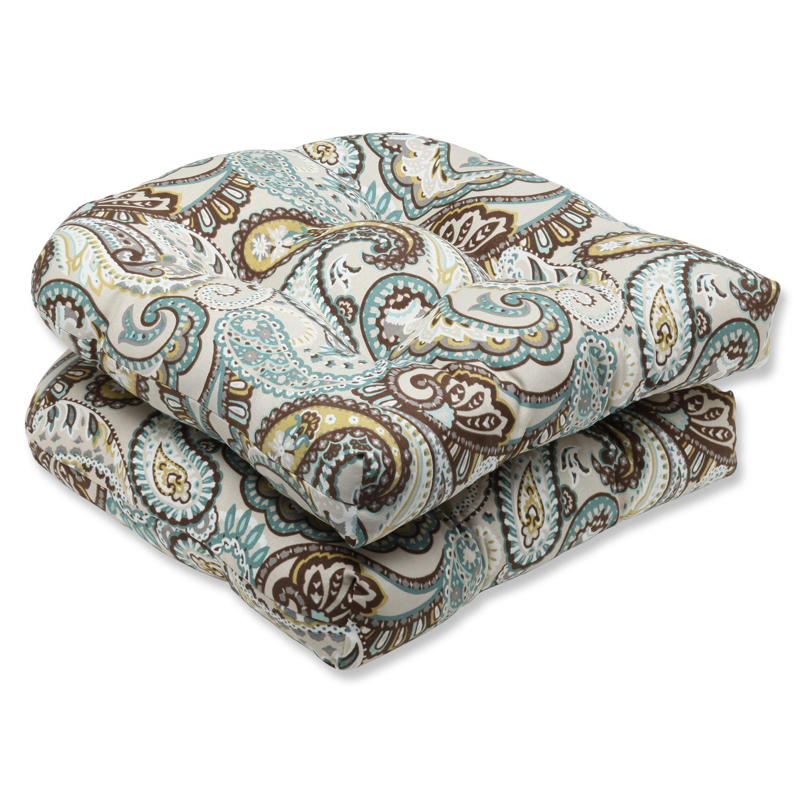 Pillow Perfect Outdoor Tamara Paisley Quartz Wicker