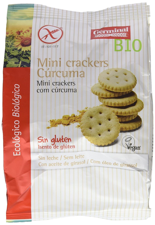 Germinal Mini Crackers con Cúrcuma Sin Gluten - Paquete de ...