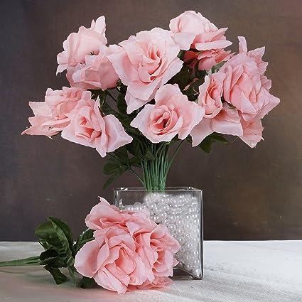 Amazon balsacircle 84 peach silk open roses 12 bushes balsacircle 84 peach silk open roses 12 bushes artificial flowers wedding party centerpieces arrangements mightylinksfo
