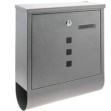 PrimeMatik - Buzón metálico para cartas, correo postal y ...