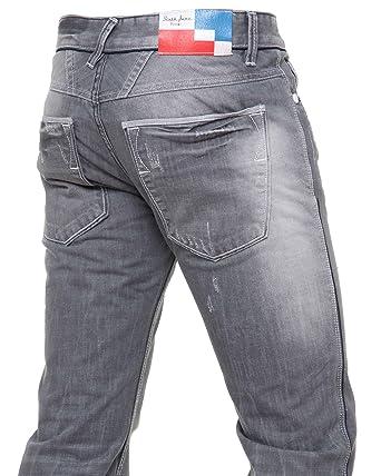 Sixth June - jeans homme gris effet griffé usé - Taille   Fr 46 US ... 3852f1daa87c