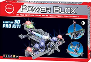 E-Blox Power Blox Builder - Pro Kit 3D LED Light-Up Building Blocks Toys Set for Kids Ages 8+