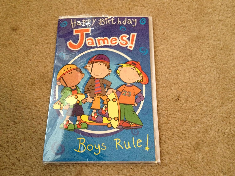 la red entera más baja Happy Birthday James - Singing Birthday Card Card Card by Oak Patch Gifts  más vendido