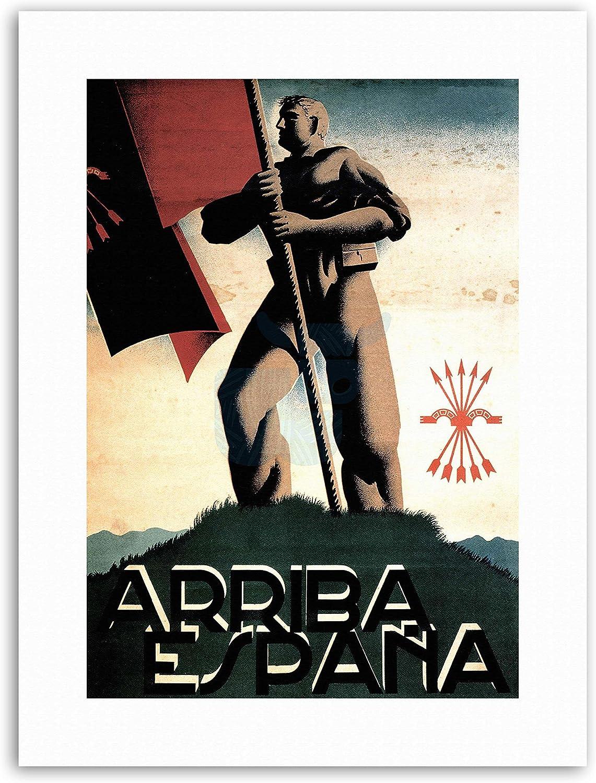 Guerra Civil Española Falange partido fascista España Póster Vintage publicidad Militar lienzo Art Prints: Amazon.es: Hogar