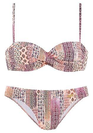 extrem einzigartig erstklassig guter Service Lascana Damen Bikini Set rosa 42 / D: Amazon.de: Sport ...