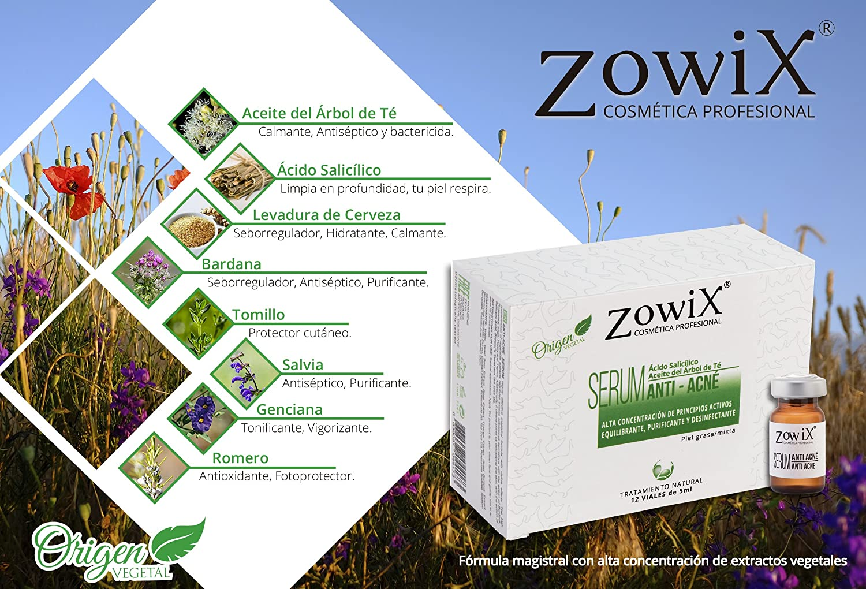 ZOWIX Tratamiento Anti Acné con Acido Salicílico. Serum facial contra el Acné que reduce Espinillas, Puntos Negros y Granos. Sin Parabenos, ideal para ...