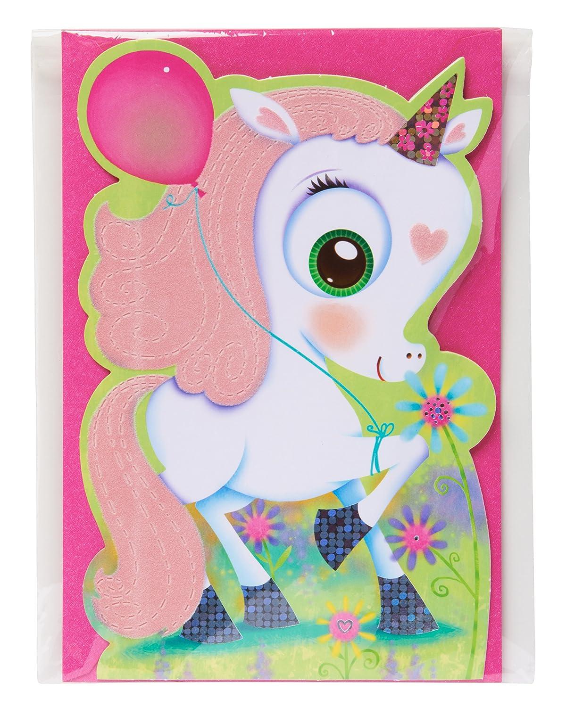 Amazon American Greetings Unicorn Birthday Card For Girl With