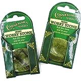 (Set of TWO) Irish Connemara Marble Worry Stones
