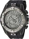 Invicta Men's 'Excursion' Quartz Stainless Steel and Silicone Casual Watch, Color:Black (Model: 24279)