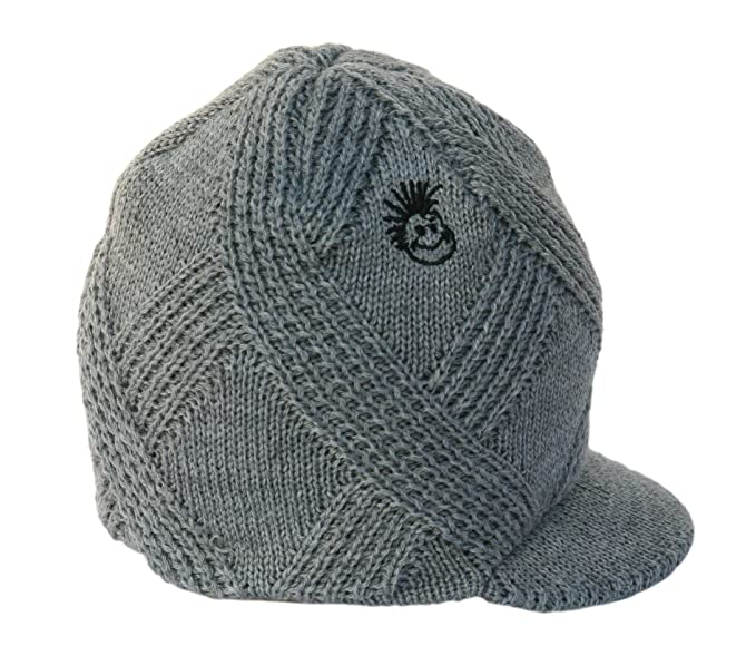 2fde744534 Born to Love Knuckleheads Gray Boy's Baby Visor Beanie Hat with Stripes  Detail