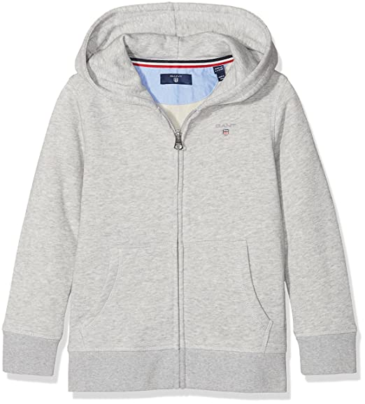 b43b94eeee37c Gant Boy Original Full-Zip Sweat Hoodie  Amazon.co.uk  Clothing