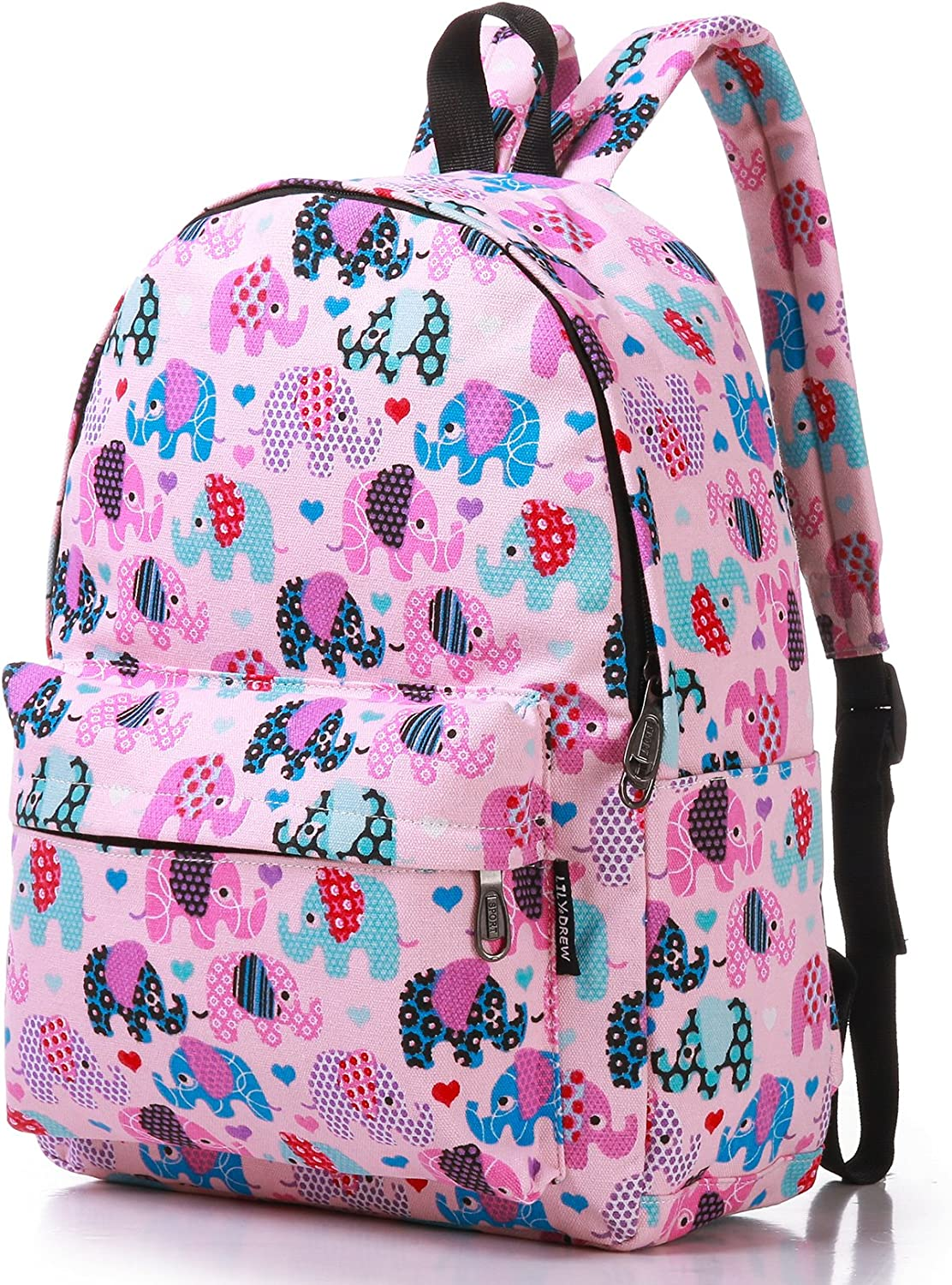 Canvas Travel Backpack for Women and Teens (Elephant Pink Medium)