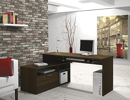 Bestar Modula L Shape Workstation Desk In Tuxedo