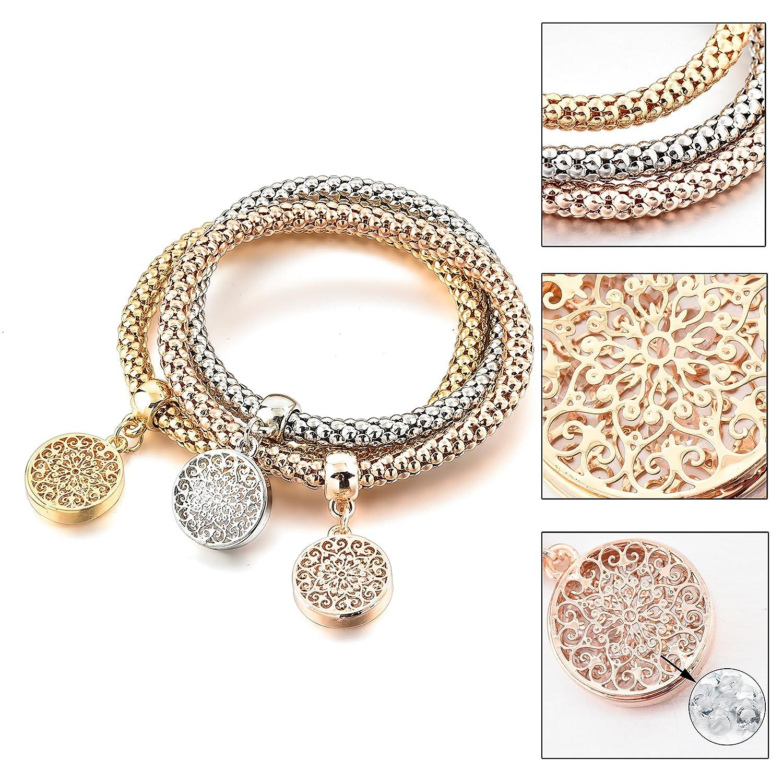 f93cc2ec1 Amazon.com: Long Way Women's Gold Silver Plated Chain Bracelet: Jewelry