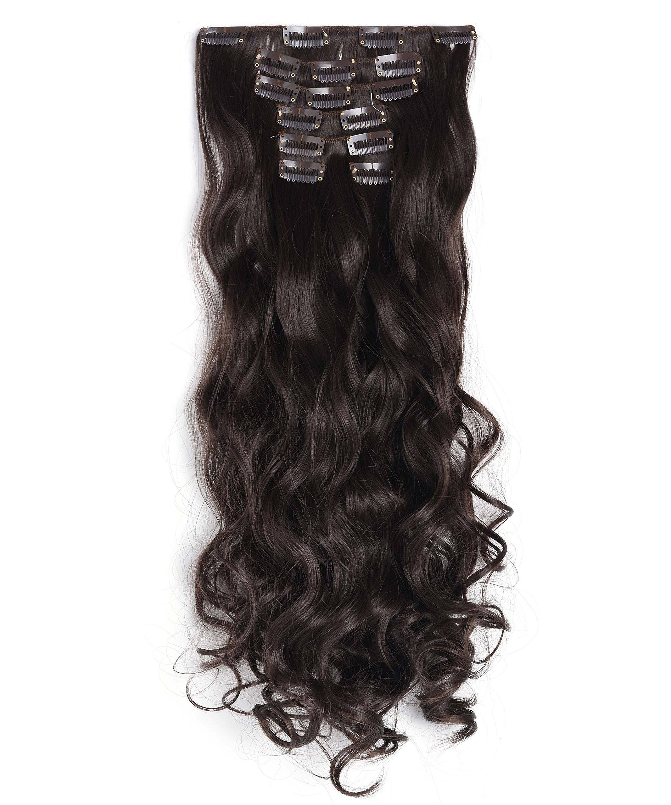 Amazon Onedor 20 Inches Curly Full Head Clip In Synthetic Hair