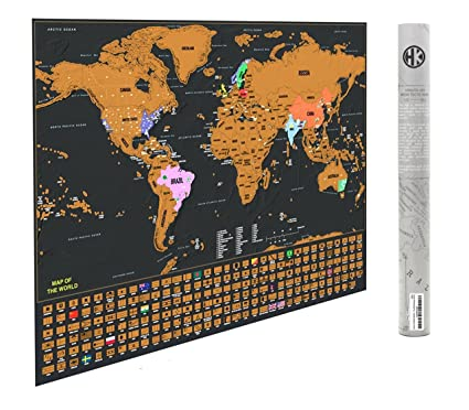 Amazon deluxe scratch off travel map poster w us states and deluxe scratch off travel map poster w us states and country flags a gumiabroncs Images