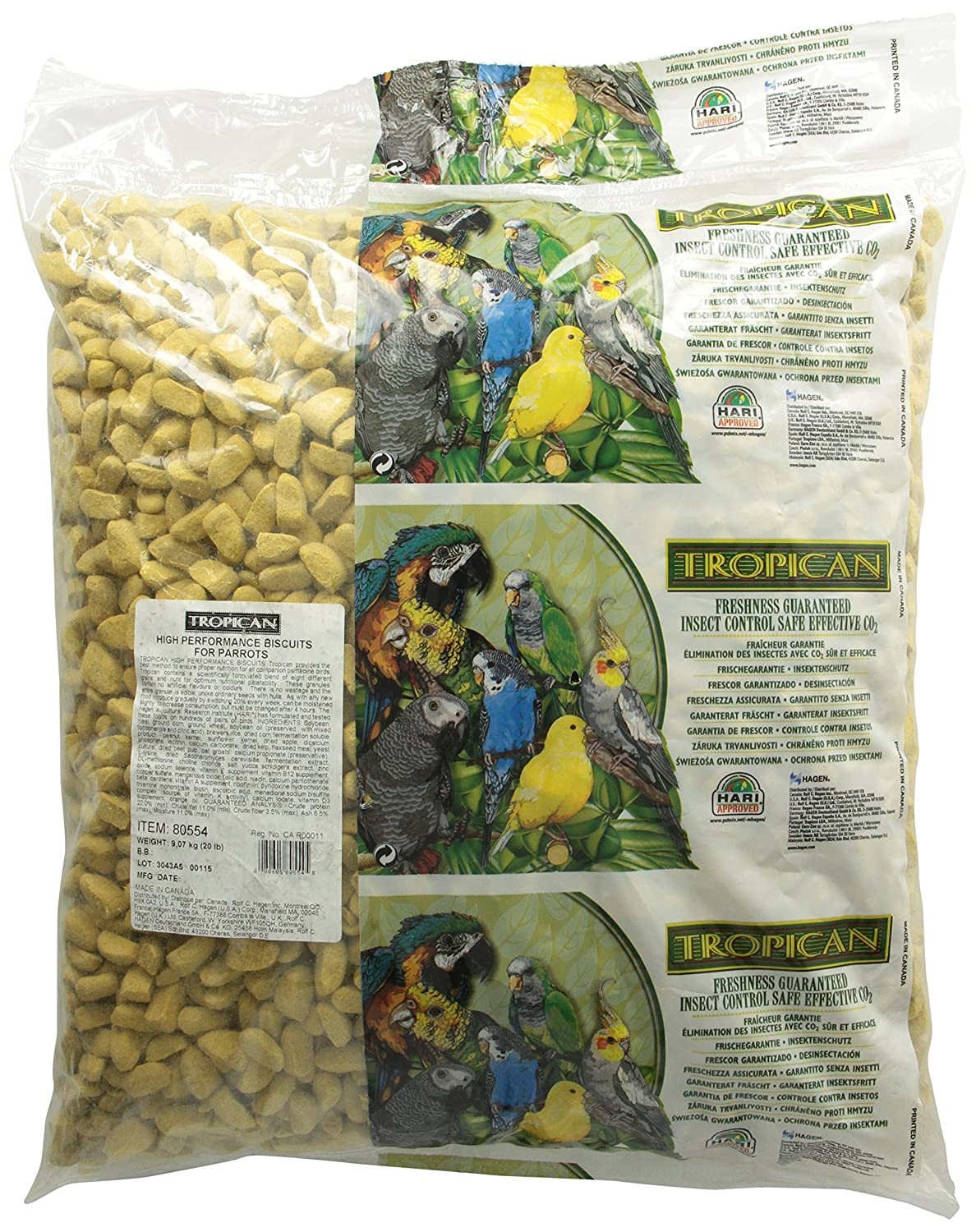 Tropican High Performance Parrot Biscuits, 20-Pound 80554
