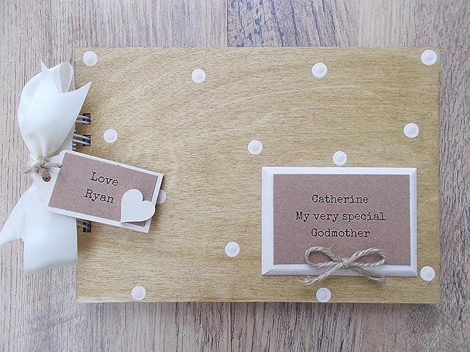 Amazon Personalised Godmother Wooden Scrapbookphoto Book