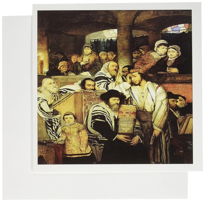 Amazon 3drose 1878 Painting Of Jews Praying On Yom Kippur