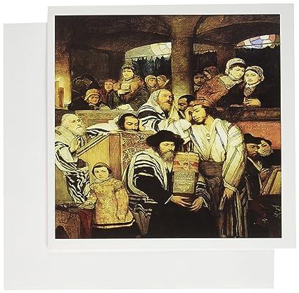 Amazon 3drose 1878 painting of jews praying on yom kippur 3drose 1878 painting of jews praying on yom kippur greeting cards 6 x 6 m4hsunfo