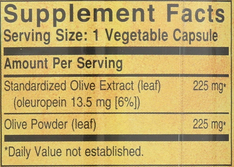 Solgar Olivo Extracto de hoja Cápsulas vegetales - Envase de ...
