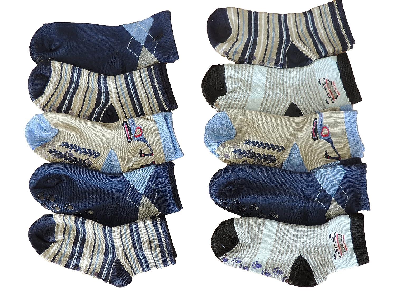 10 Paar sportliche Jungen ABS Socken Größe 17-36
