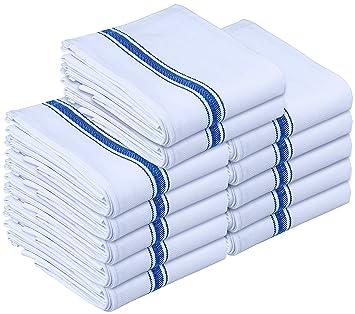 High Quality Kitchen Towels   Dish Cloth (12 Pack)   Machine Washable Cotton White  Kitchen Dishcloths