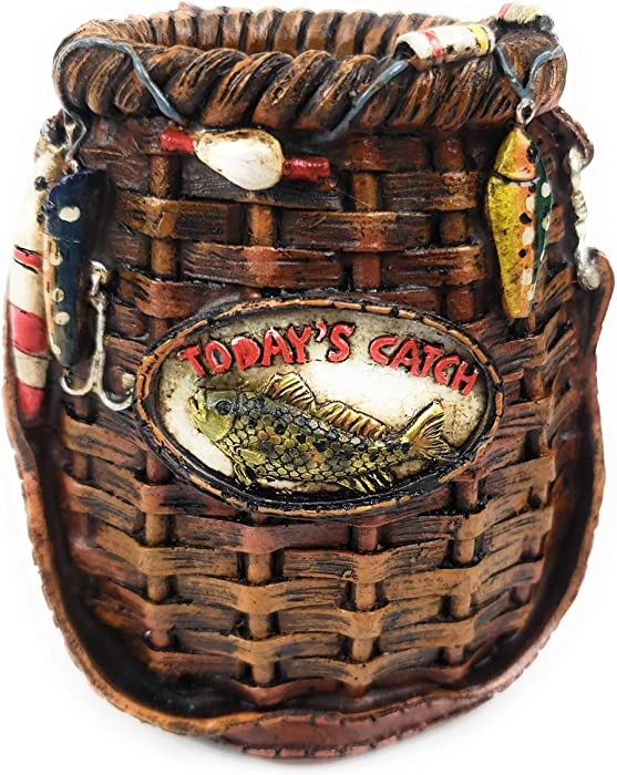Rainbow Trading RA 5876 Fish Basket Decorative Pen and Pencil Holder