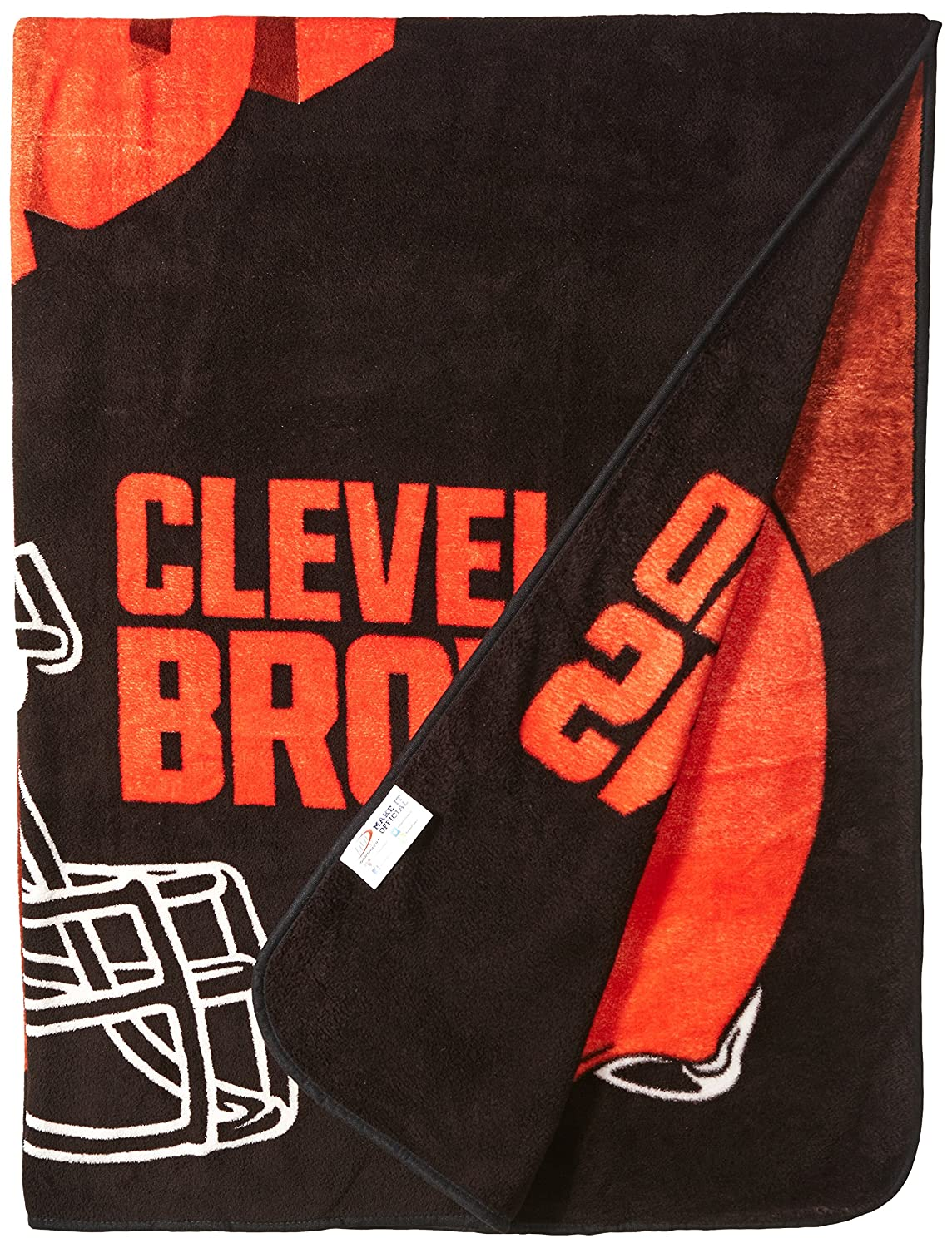 Multi Color 60 x 80 Officially Licensed NFL Bevel Micro Raschel Throw Blanket