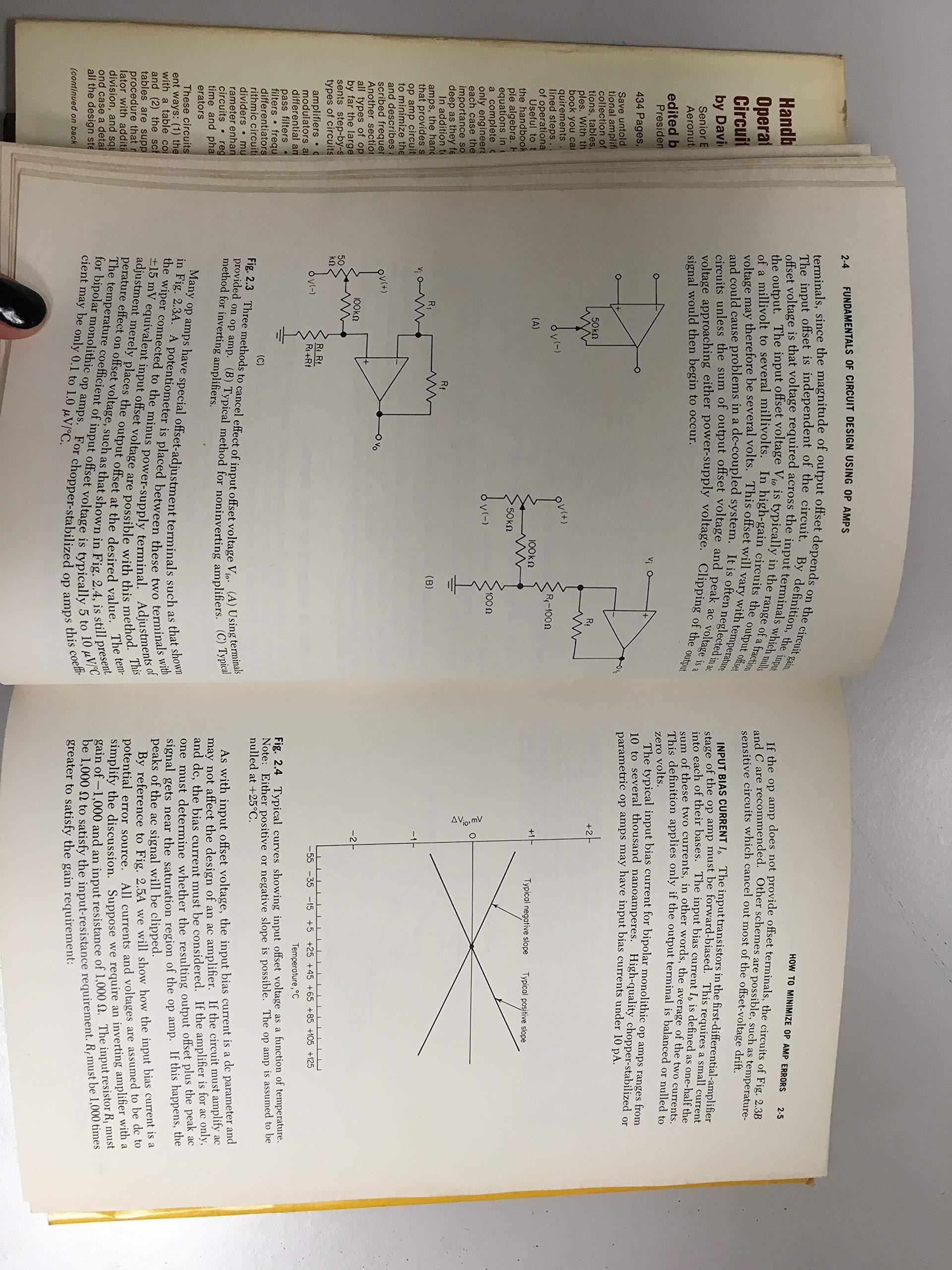 Handbook Of Operational Amplifier Circuit Design David F Stout Basics Electrical Engineering Milton Kaufman 9780070617971 Books