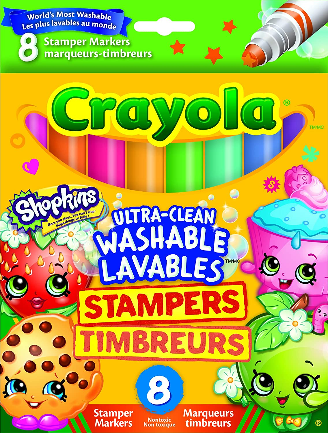 Where to buy shopkins coloring book - Vivid Imaginations Shopkins 8ct Stamper Markers Multi Colour