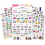 Bloom Daily Planners Productivity Planner Stickers - Variety Sticker Pack - Six Sticker Sheets per Pack!