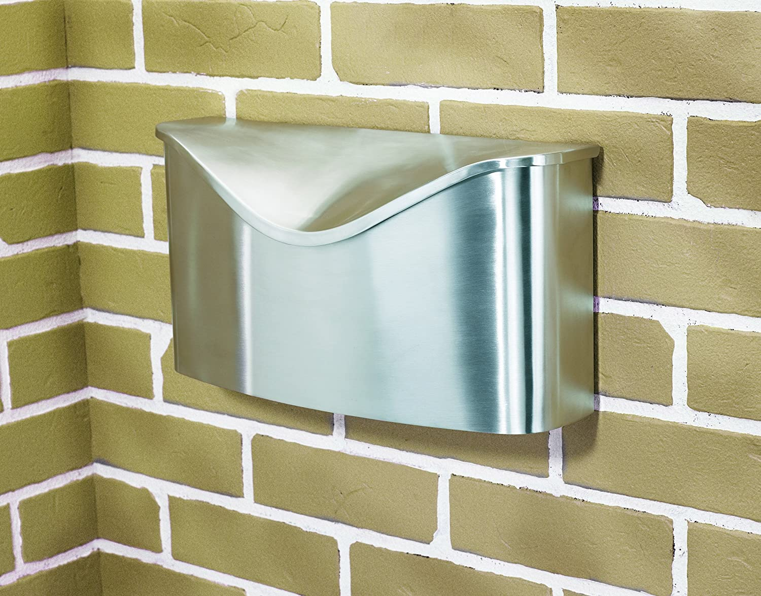 Well known Umbra Postino Wall-Mount Mailbox, Stainless Steel - Modern Mailbox  QY78