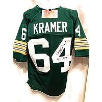 Jerry Kramer Green Bay Packers Signed Autograph Green Custom Jersey HOF… photo