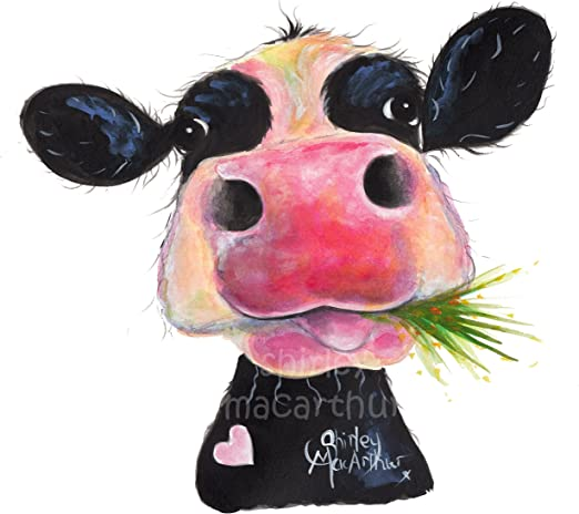 CoW PRiNTS BoX CANVAS CoW ART LARGE XL of Original Painting /'THe NoSeY CoWS /'