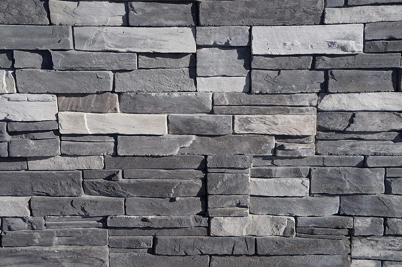 Ledgestone Series 6 x 23.5 Flats Northern Gray 8 Boxes//32pcs 32 Piece Natural Concrete Products Co NGFLAT8 Adorn Mortarless Stone Veneer Siding