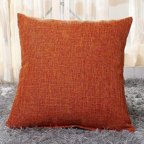 Pillowcase Covers U\u0027artlines Slubbed Linen Orange Pillow Case Decorative Cushion Cover Pillowcase for & Amazon.com: Pillowcase Covers U\u0027artlines Slubbed Linen Orange ... pillowsntoast.com