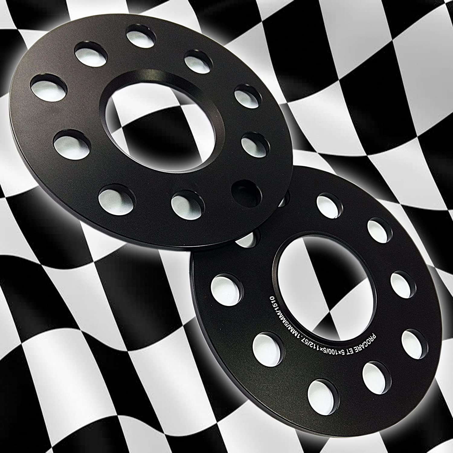 5X100 5X112 PCD 57.1 CENTRE BORE by T6 ALUMINIUM UNITS PROCARE HUB CENTRIC 5MM ALLOY WHEEL SPACER KIT