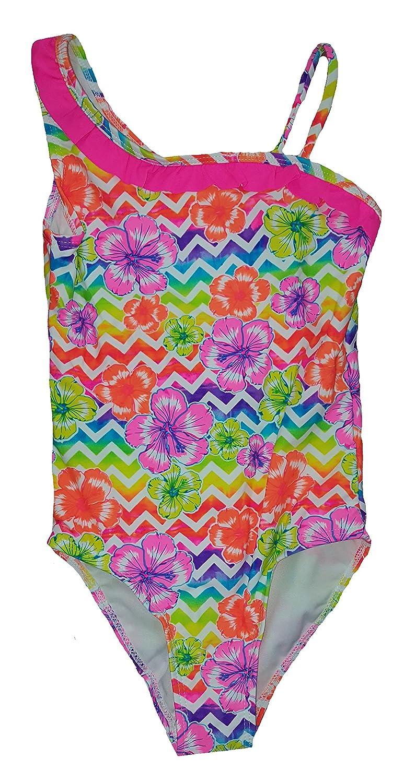 Ocean Pacific Girls Ziggy Tropical One Piece Swimsuit