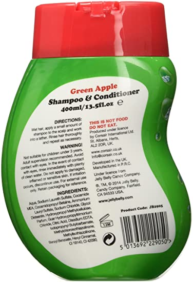 Jelly Belly Shampoo/Conditioner, Green Apple