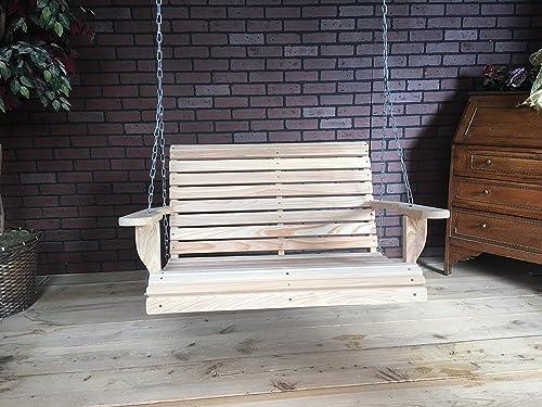 LA Swings Inc 3ft Cypress Roll Back Porch Swing