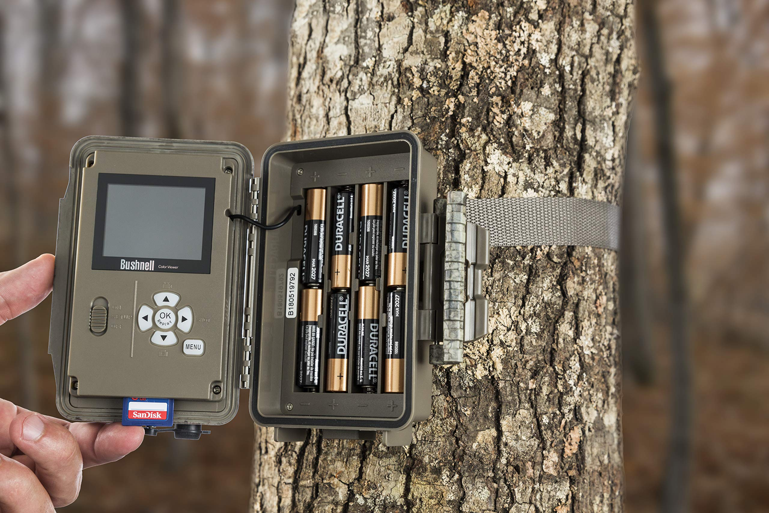 Bushnell 119877 24MP Trophy Cam HD No Glow Trail Camera with Color Viewer, Camo Camouflage by Bushnell (Image #4)
