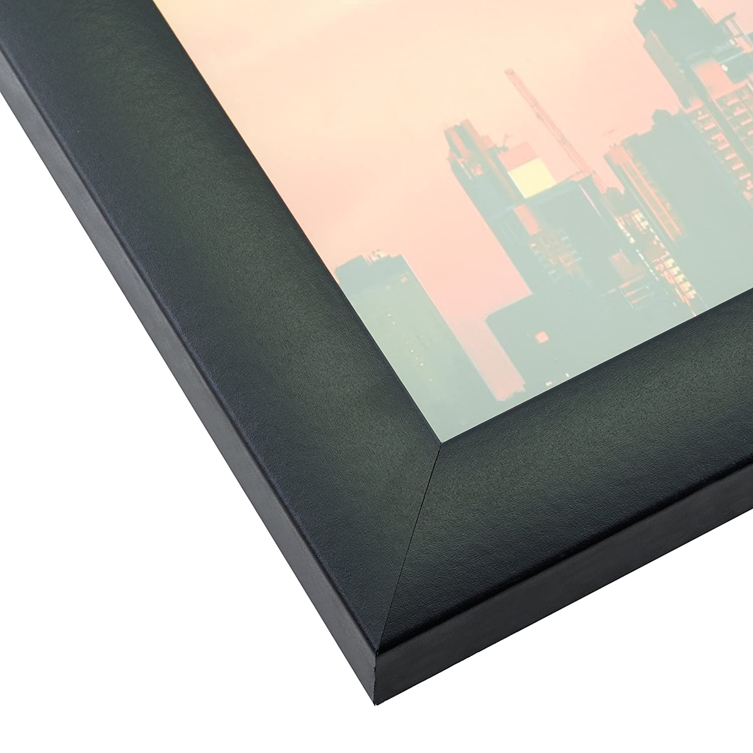 Smooth Wrap Finish Craig Frames 1WB3BK 11 by 17-Inch Picture Frame Black 1-Inch Wide