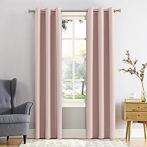 Sun Zero 53451 Easton Blackout Energy Efficient Grommet Curtain Panel, 40