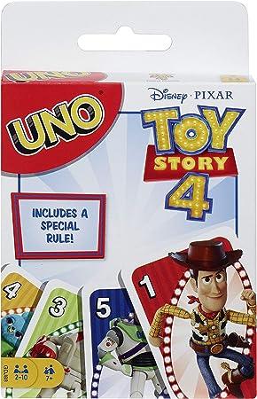 Uno Disney Pixar Toy Story 4, Juego de Mesa y Cartas, GDJ88: Amazon.es: Juguetes y juegos
