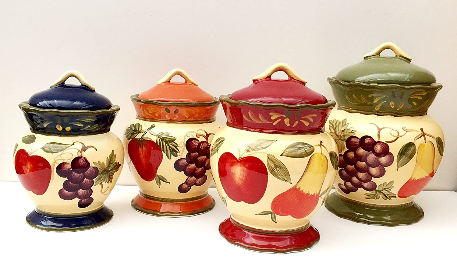 amazon com tuscany garden colorful hand painted mixed fruit