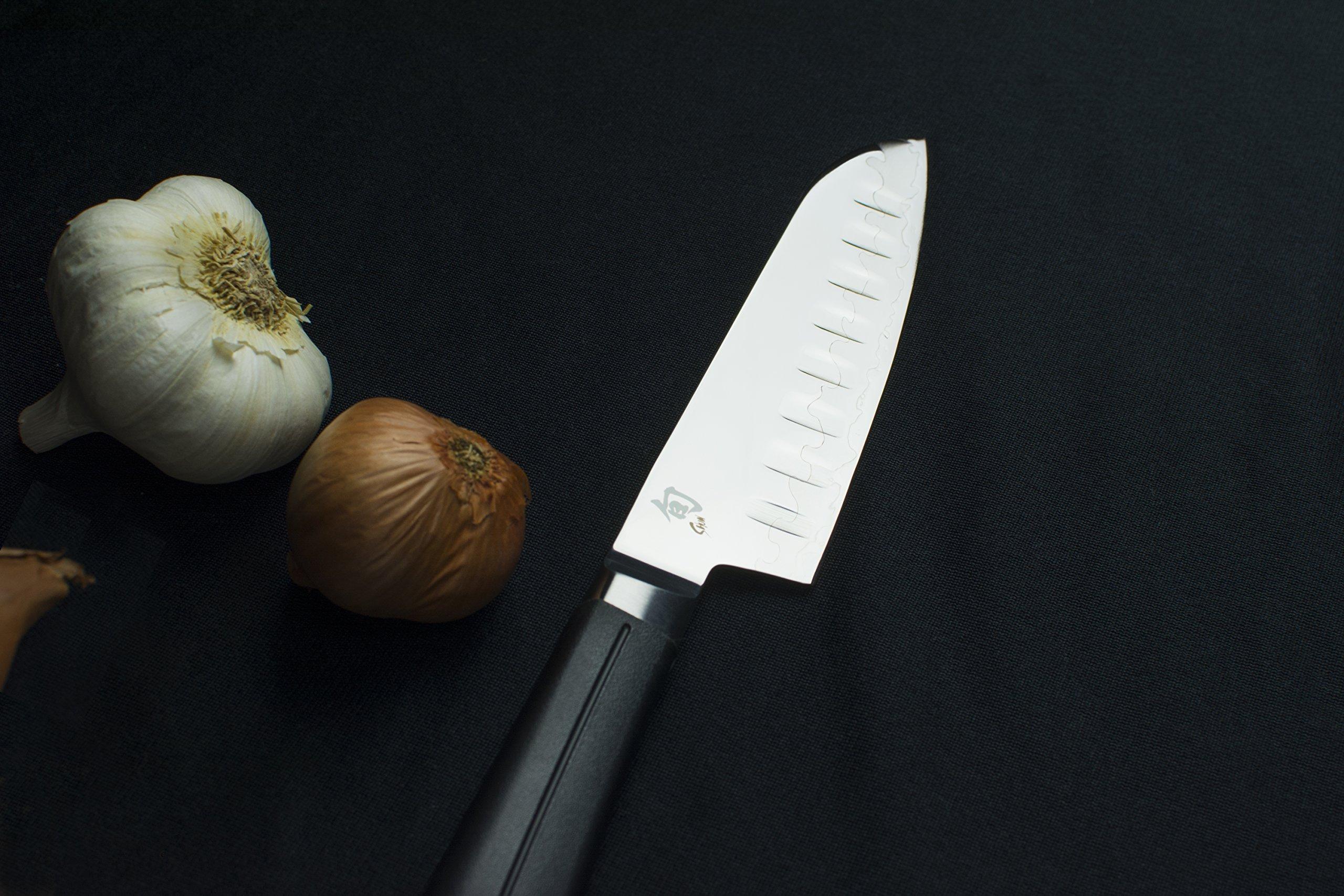 Shun Sora Hollow Ground 5.5 Inch Santoku Knife by Shun (Image #2)