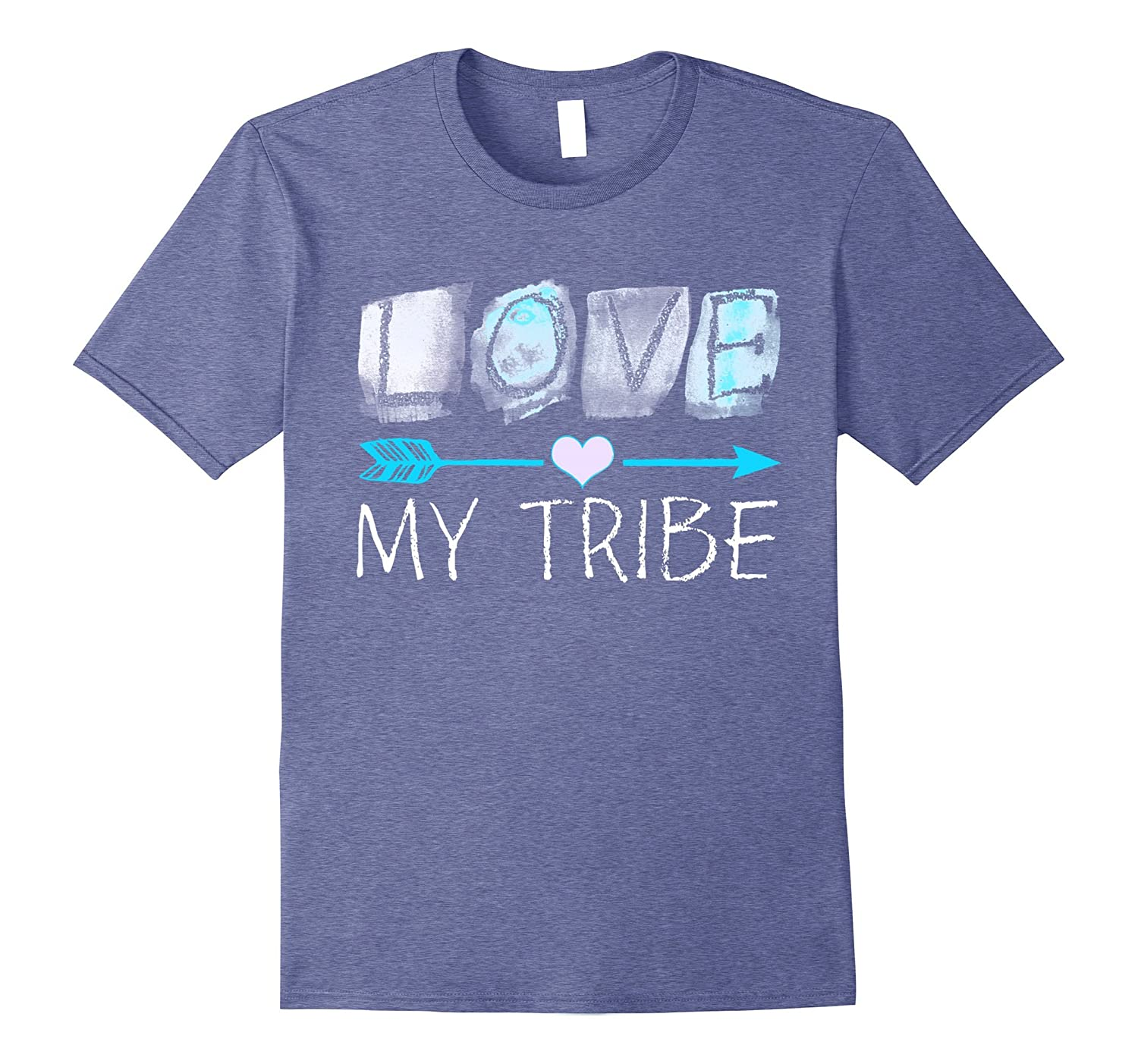 Love My Tribe TShirts - Popular Quote Heart Arrow T-Shirt-Art